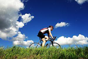 alle arten von fahrrädern im fahrradladen